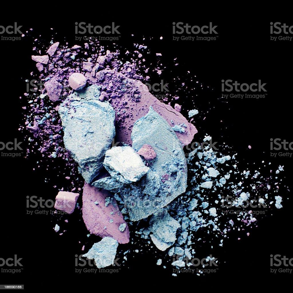 Purple and Blue Eyeshadow stock photo