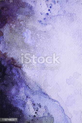 911585920 istock photo Purple and Blue watercolor background 1157492377