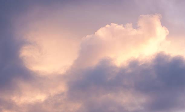 Purple and Orange Cloudscape stock photo