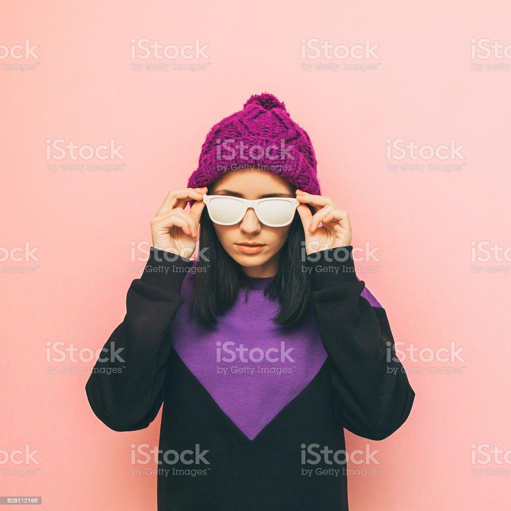 purple and pastel mix stock photo