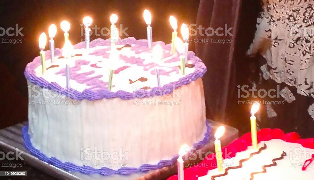 Astonishing Purple And White Birthday Cake Paint Daubs Filter Stock Photo Personalised Birthday Cards Arneslily Jamesorg