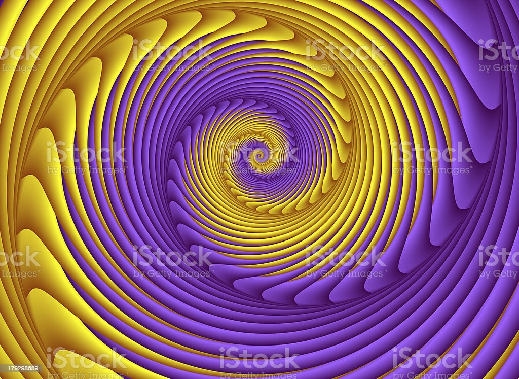 Purple and Yellow Spiral - Fractal Image royalty-free stock photo