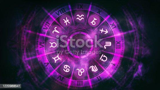 Horoscope background digital illustration.