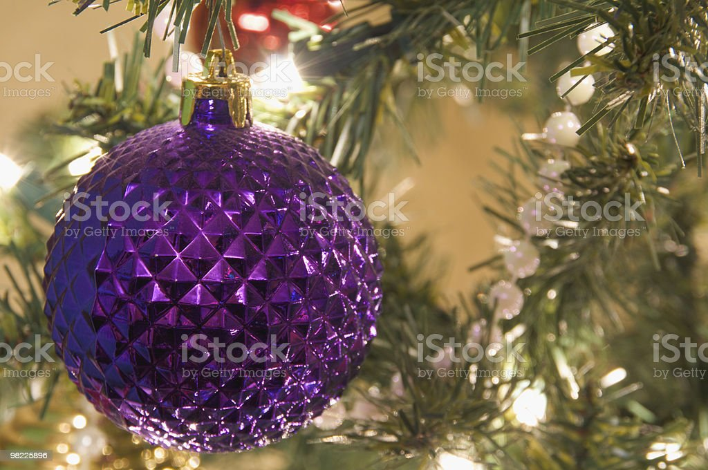 Purple Ball Ornament royalty-free stock photo