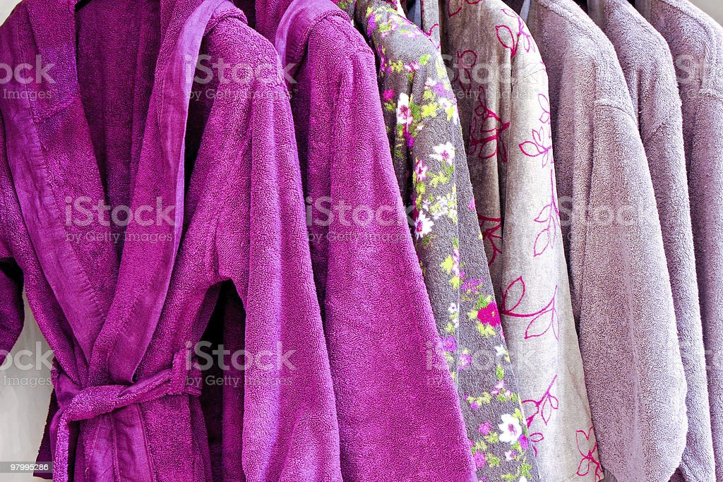 Purple bathrobe royalty-free stock photo