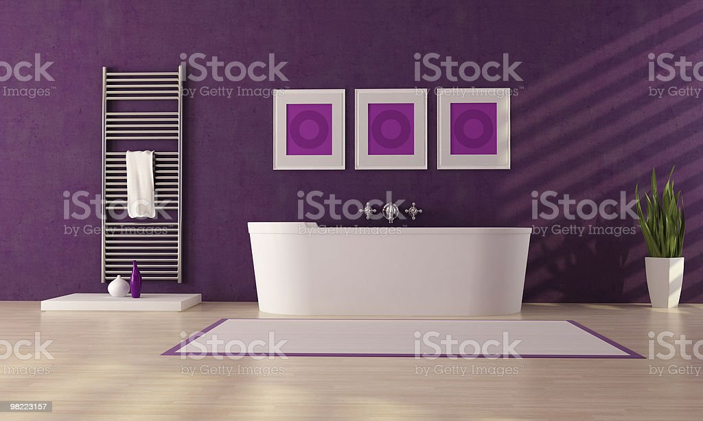 purple bathroom royalty-free stock photo