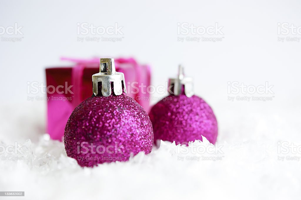Purple baubles royalty-free stock photo