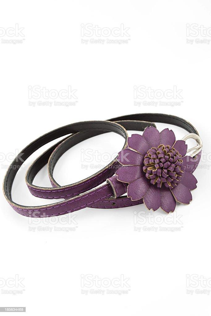 Purple belt for lady stock photo