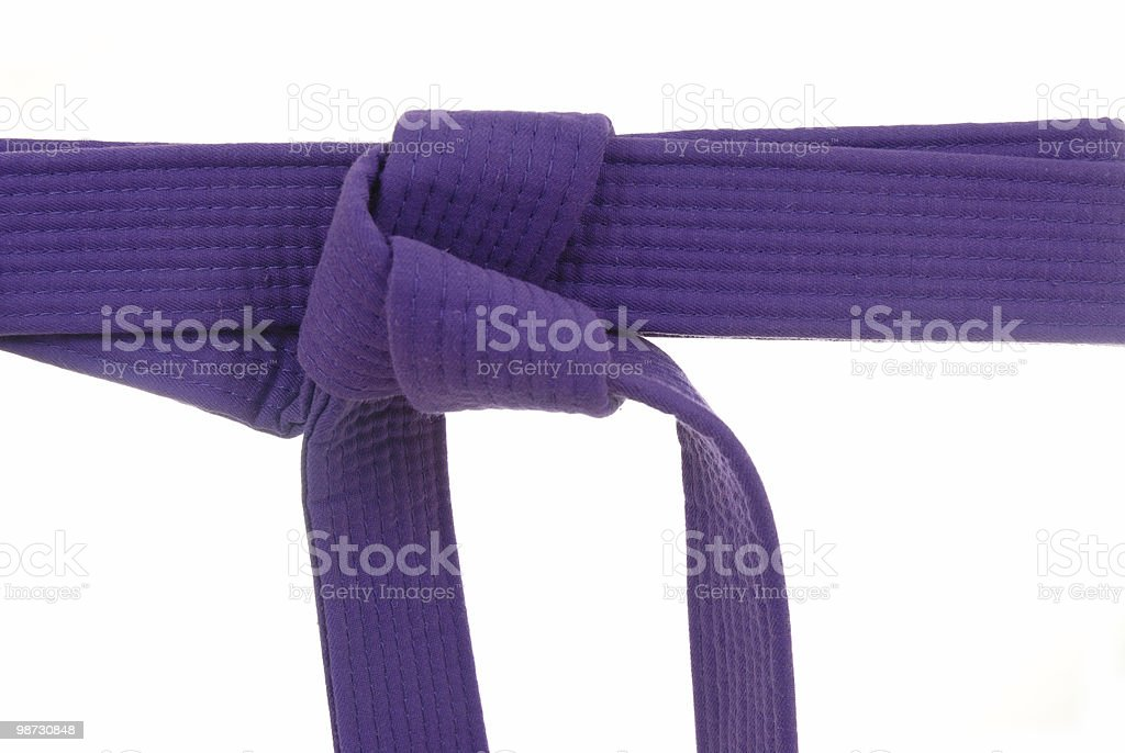 Purple belt ranking royalty-free stock photo