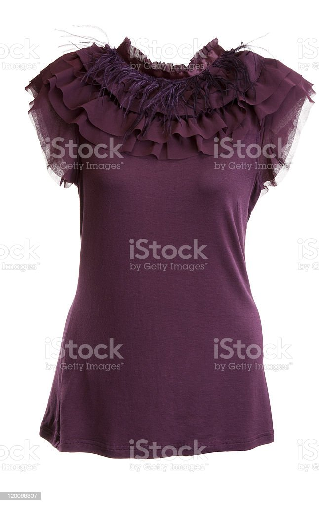 purple blouse royalty-free stock photo