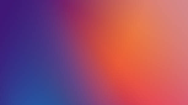 Purple, Blue and Orange Blurred Abstract Background stock photo