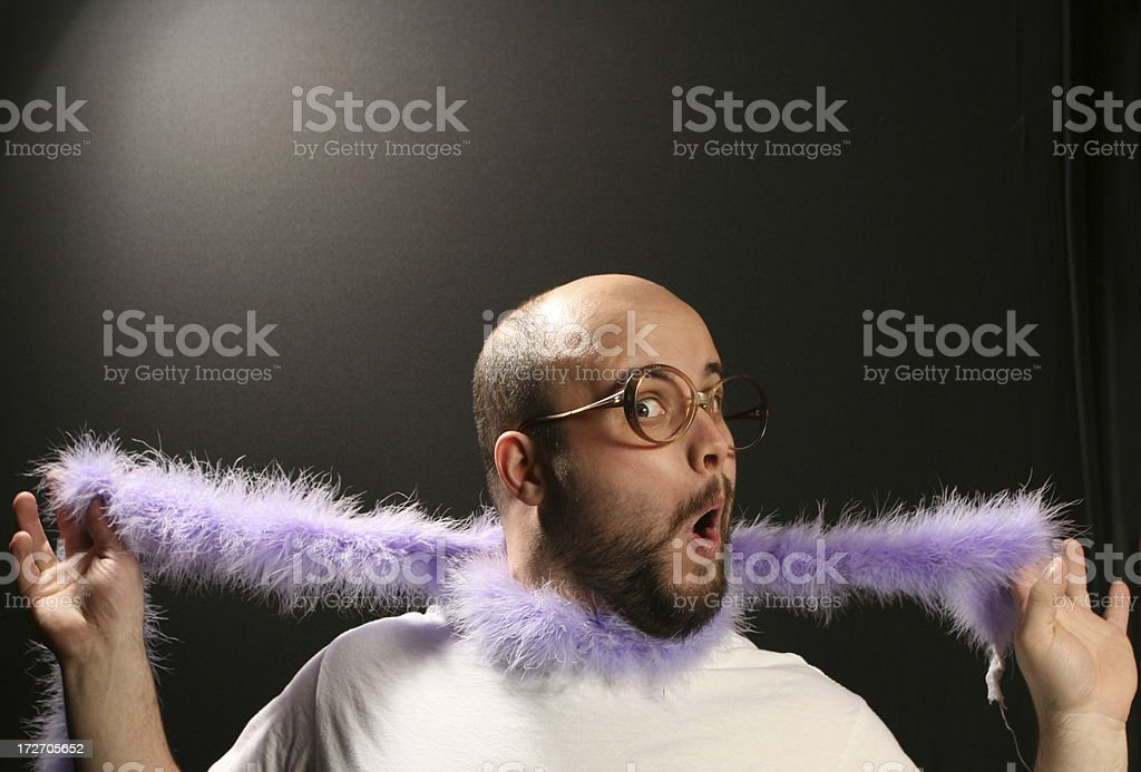 Purple Boa Man royalty-free stock photo