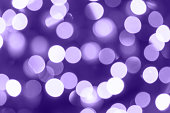 Purple bokeh background, 2018 Color of the Year