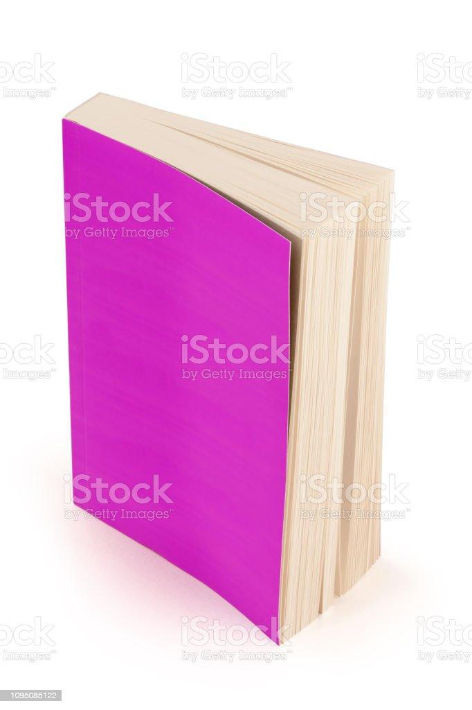 violette Buchdeckel mit Beschneidungspfad – Foto