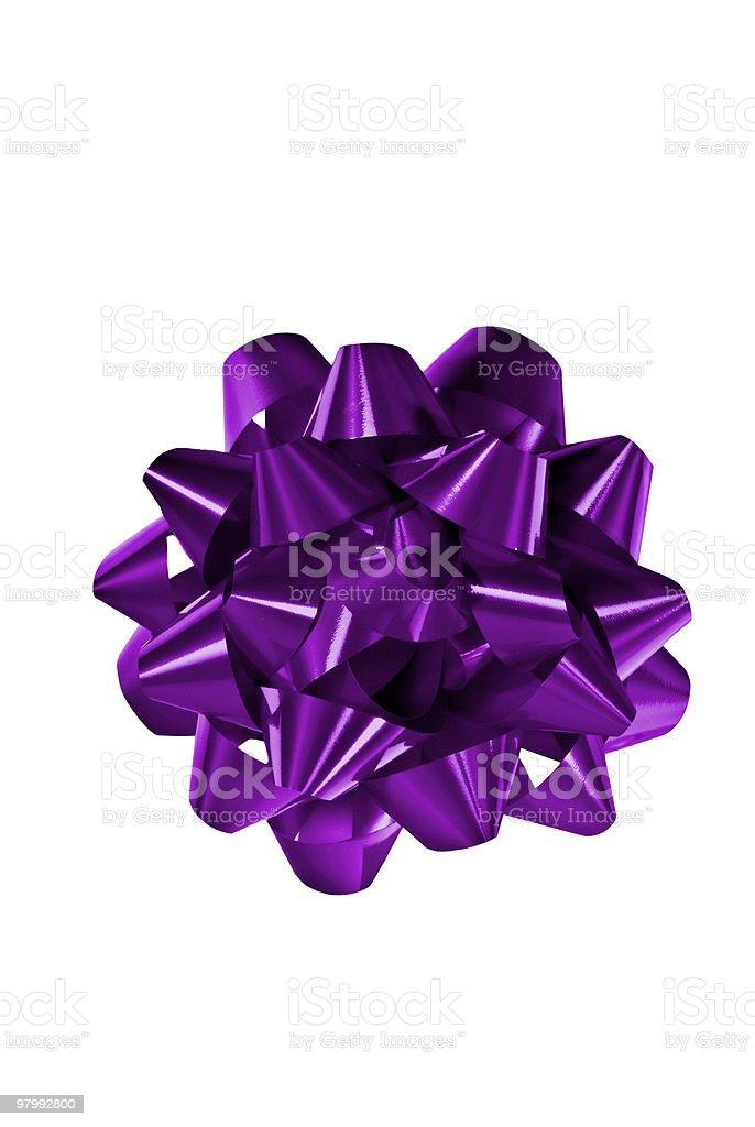 Purple Bow royalty-free stock photo
