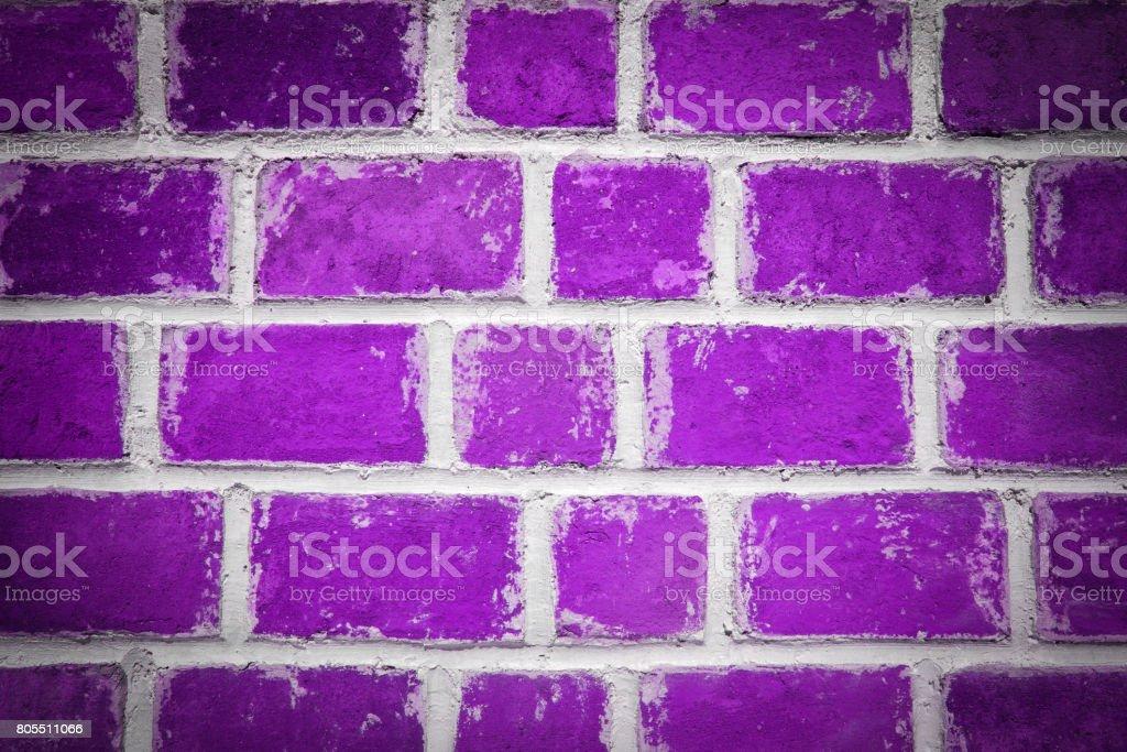 Purple brick wall background stock photo
