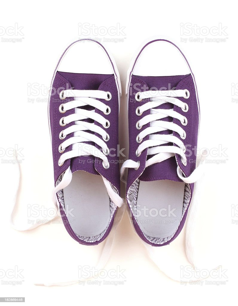 Purple Canvas Shoes stock photo