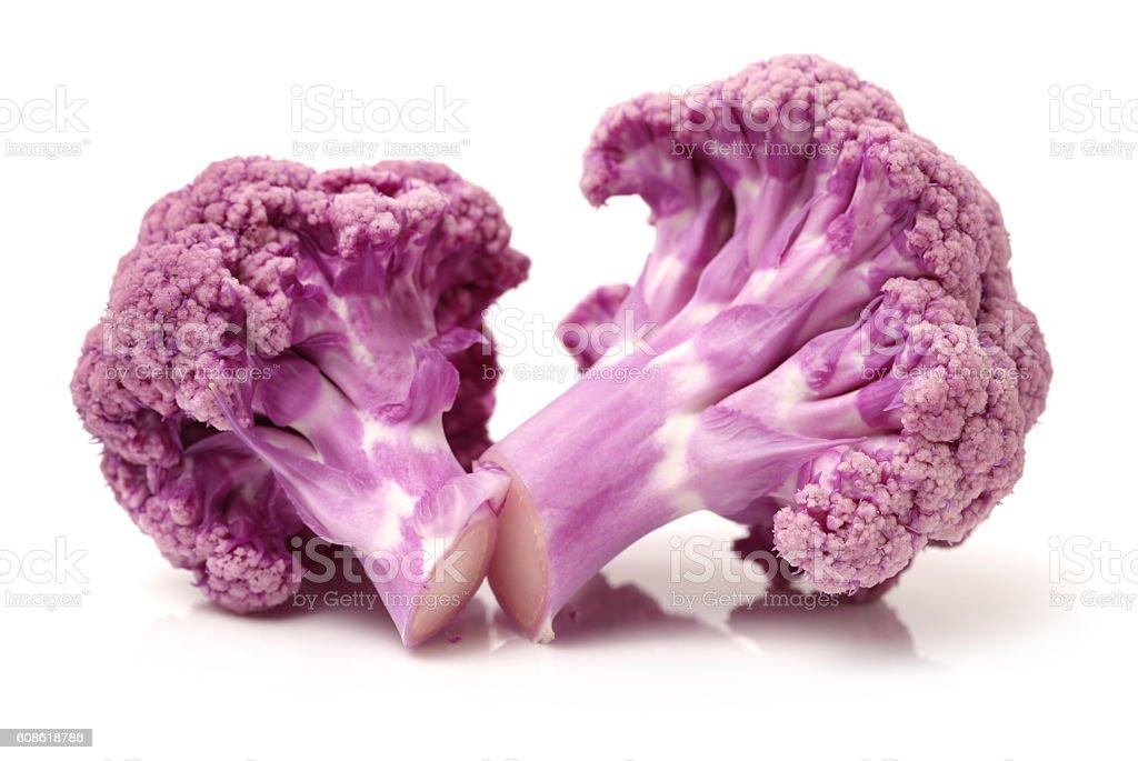 Purple cauliflower stock photo