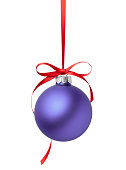 istock Purple Christmas Ball 1183032482
