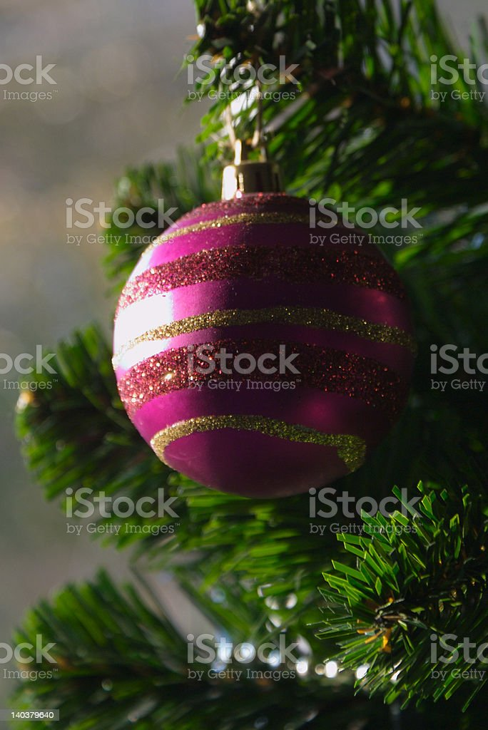 Purple Christmas Ball royalty-free stock photo