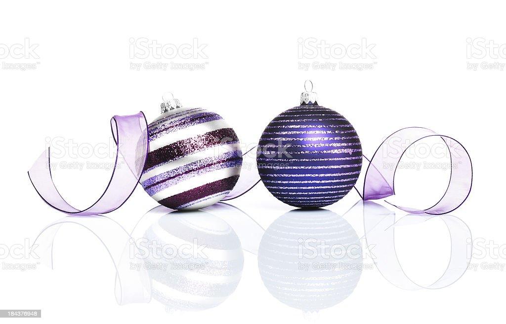 Purple Christmas Decoration royalty-free stock photo