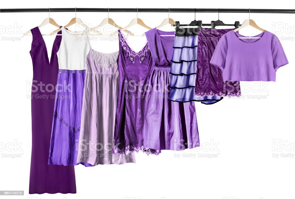 Purple clothes isolated royalty-free stock photo