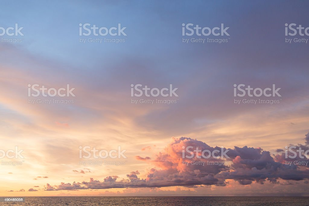 Purple Clouds stock photo