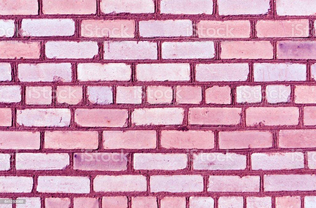 Purple color brick wall trexture stock photo