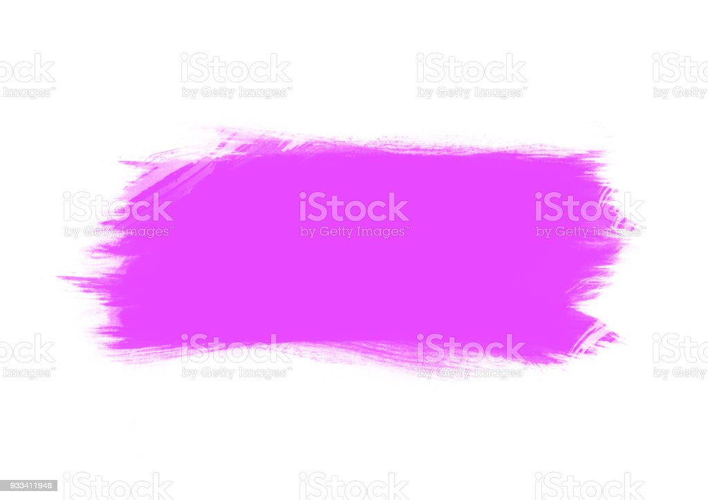 Purple color graphic color brush strokes patches effect elements stock photo