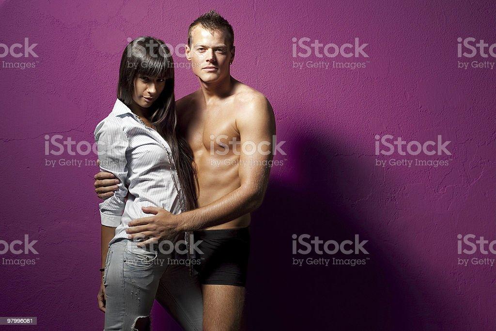 Purple Couple royalty-free stock photo