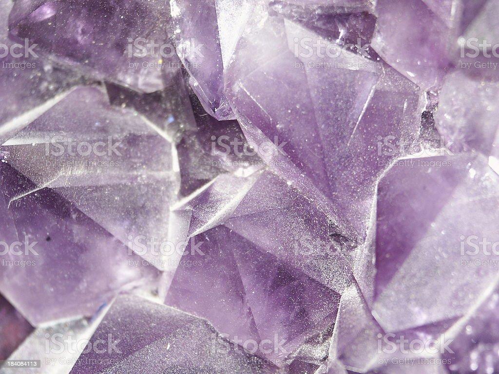 purple crystal (Amethyst) royalty-free stock photo