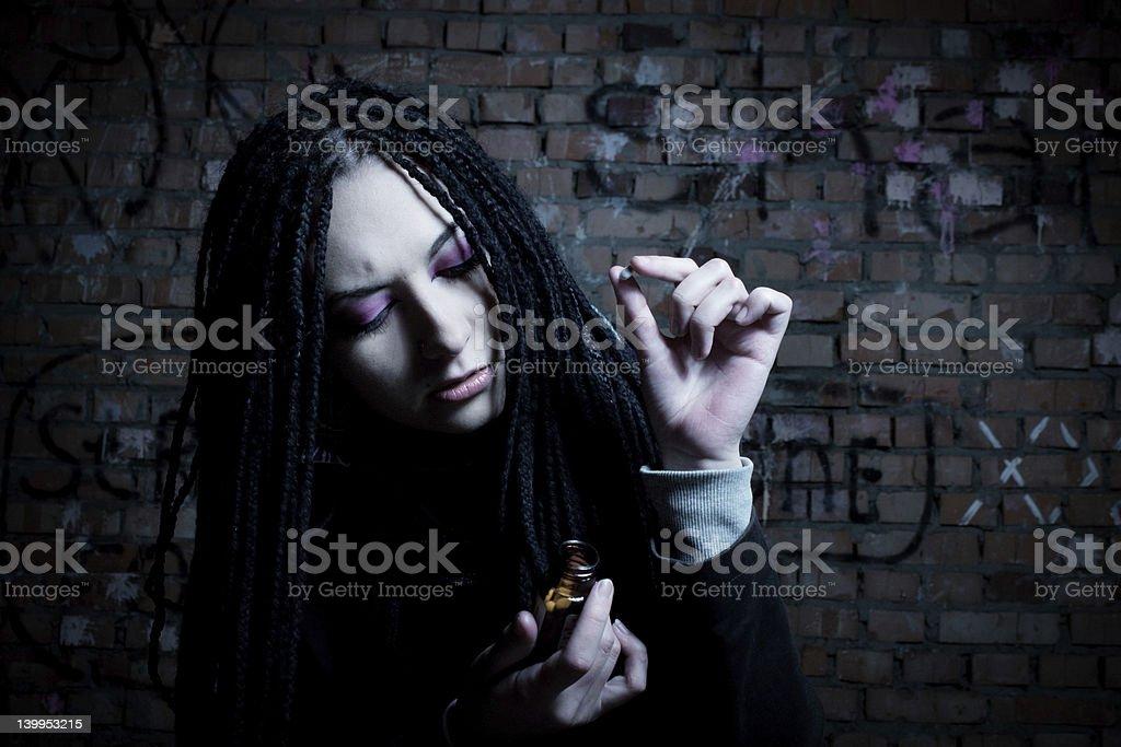 Purple depression stock photo