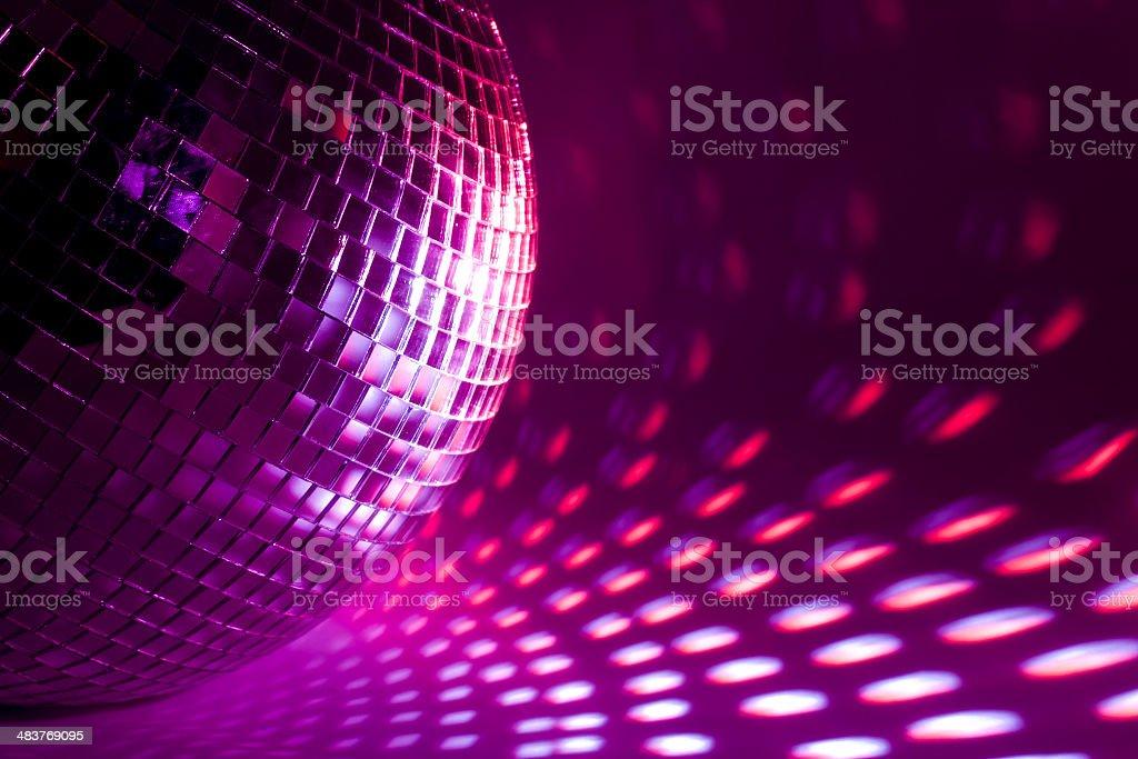 purple disco background stock photo