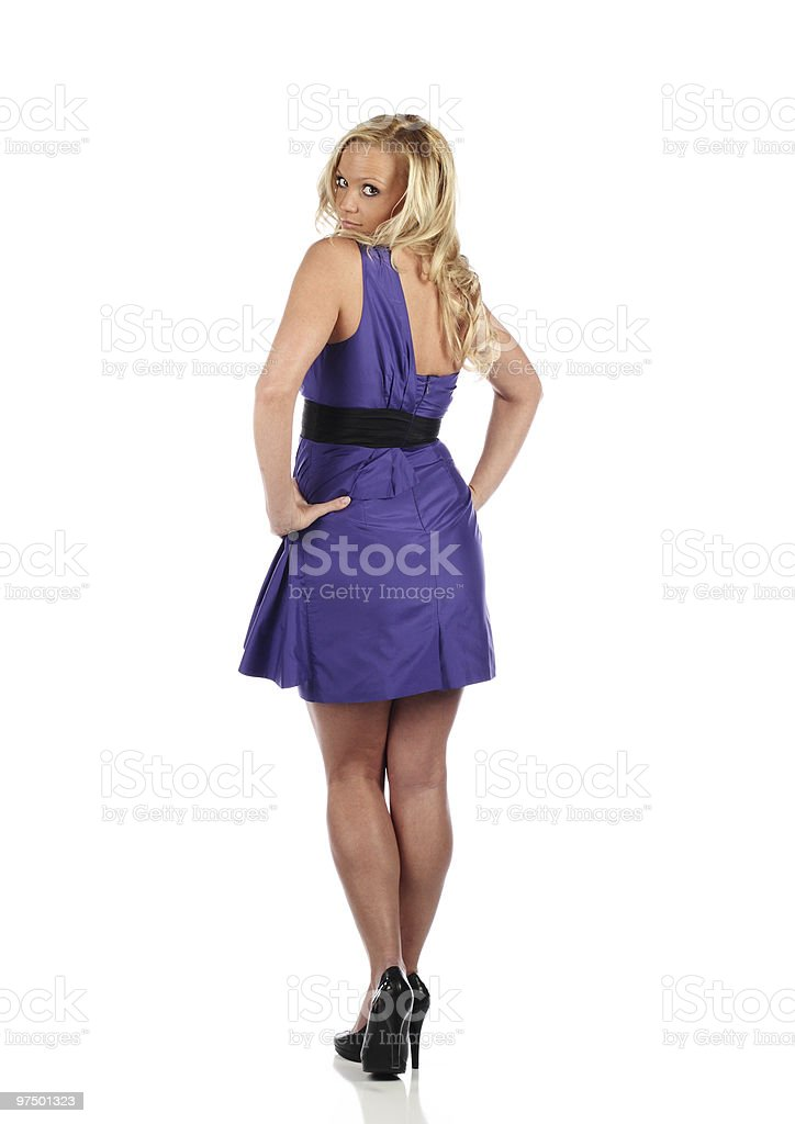 Purple Dress royalty-free stock photo