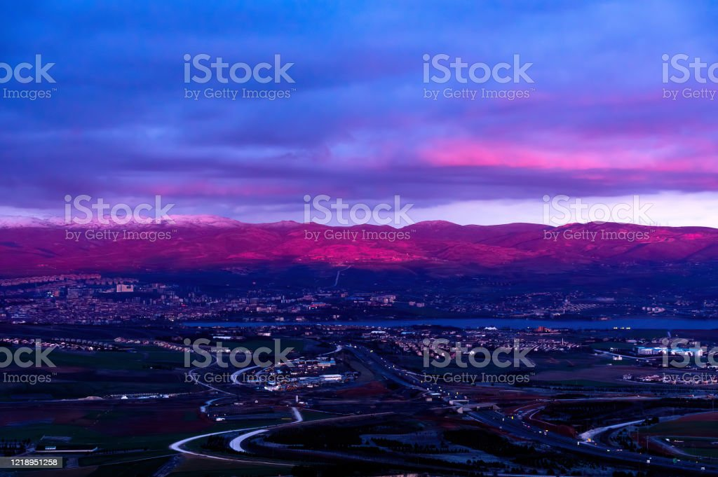 Purple Dusk - Royalty-free Ankara - Turkey Stock Photo