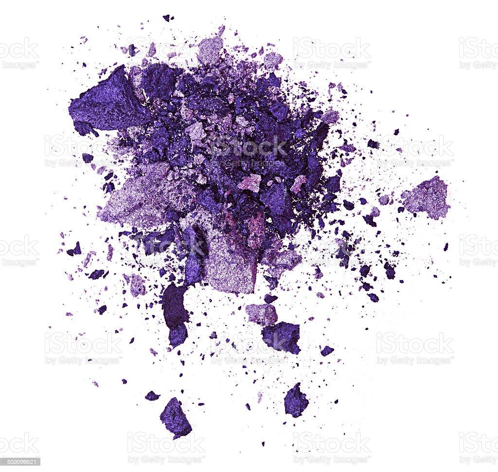 Purple eye shadow stock photo