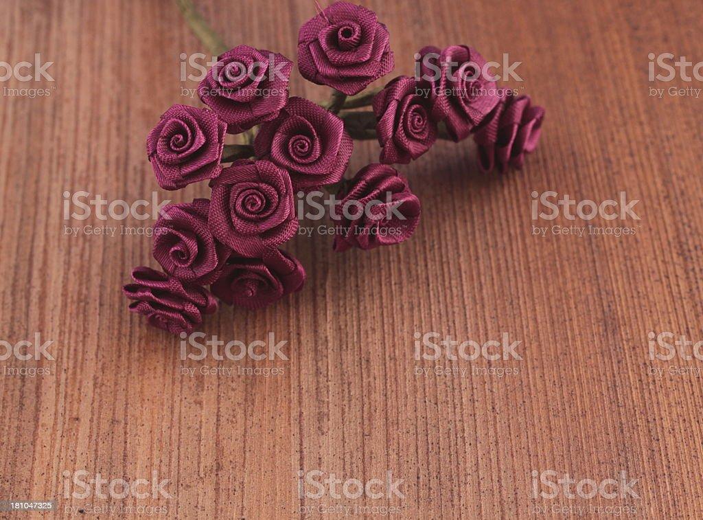 purple fabric flowers royalty-free stock photo