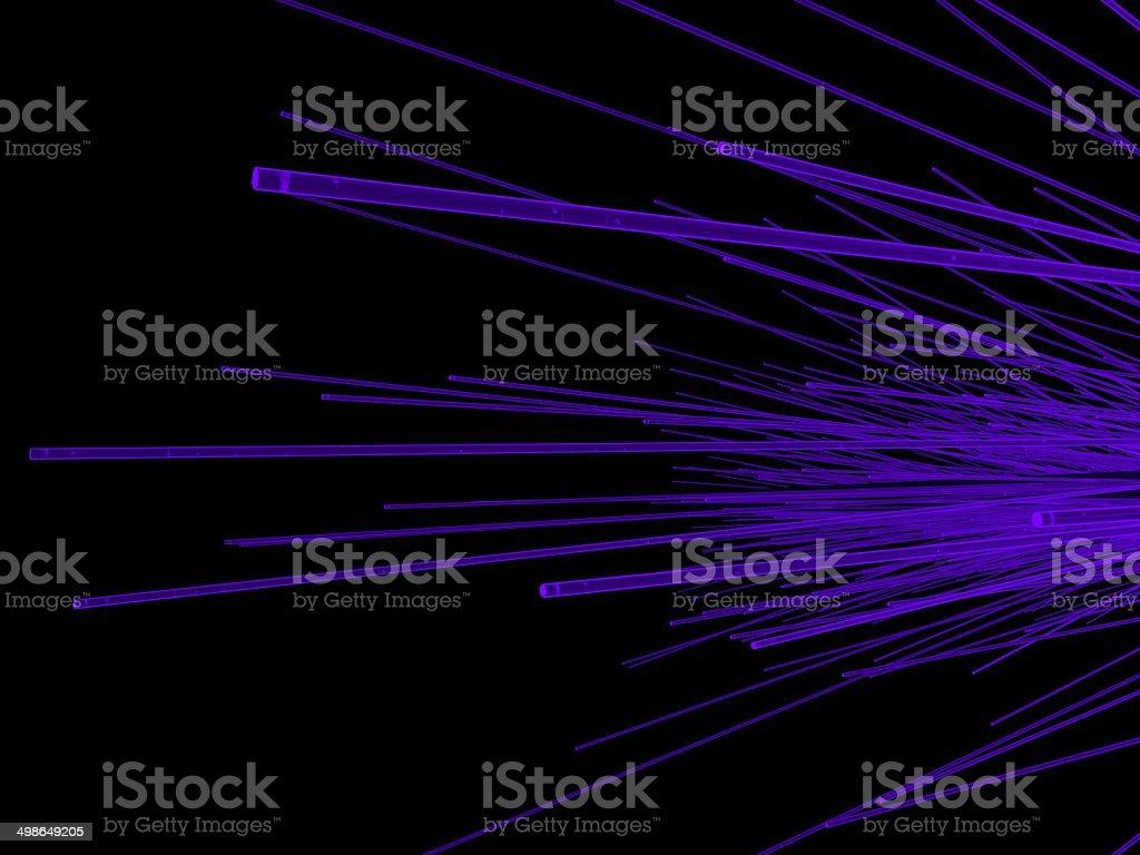 Purple Fiber Optic stock photo