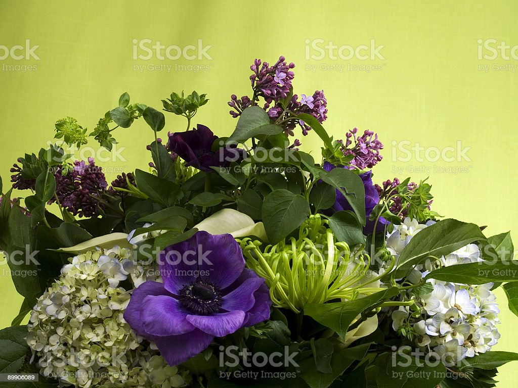 Purple Floral Arrangement royalty-free stock photo