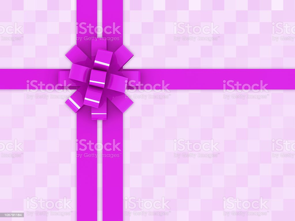 purple gift box and bow royalty-free stock photo