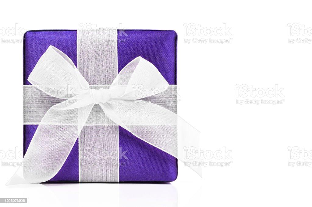 Purple Gift Box stock photo
