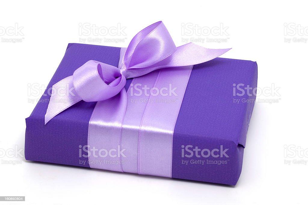 purple gift box royalty-free stock photo