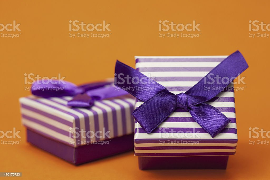 Purple Gifts royalty-free stock photo