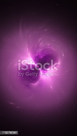 istock Purple glowing electromagnetic source in space 1152792351
