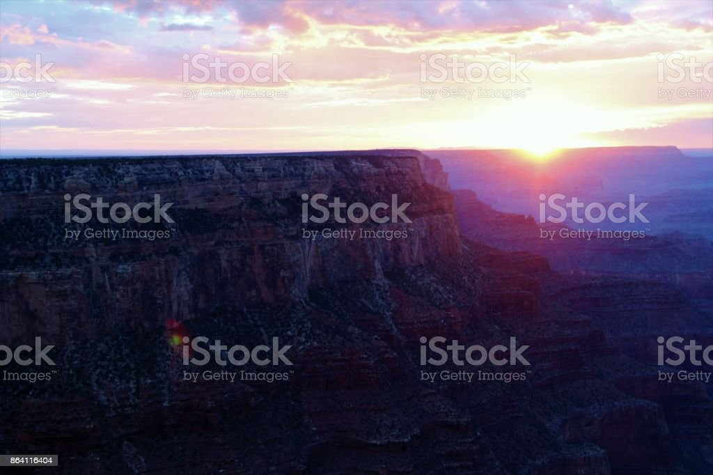 Purple Grand Caynon Sunset royalty-free stock photo