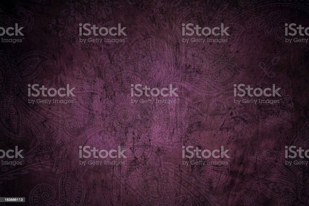 Purple Grunge Paisley Background stock photo