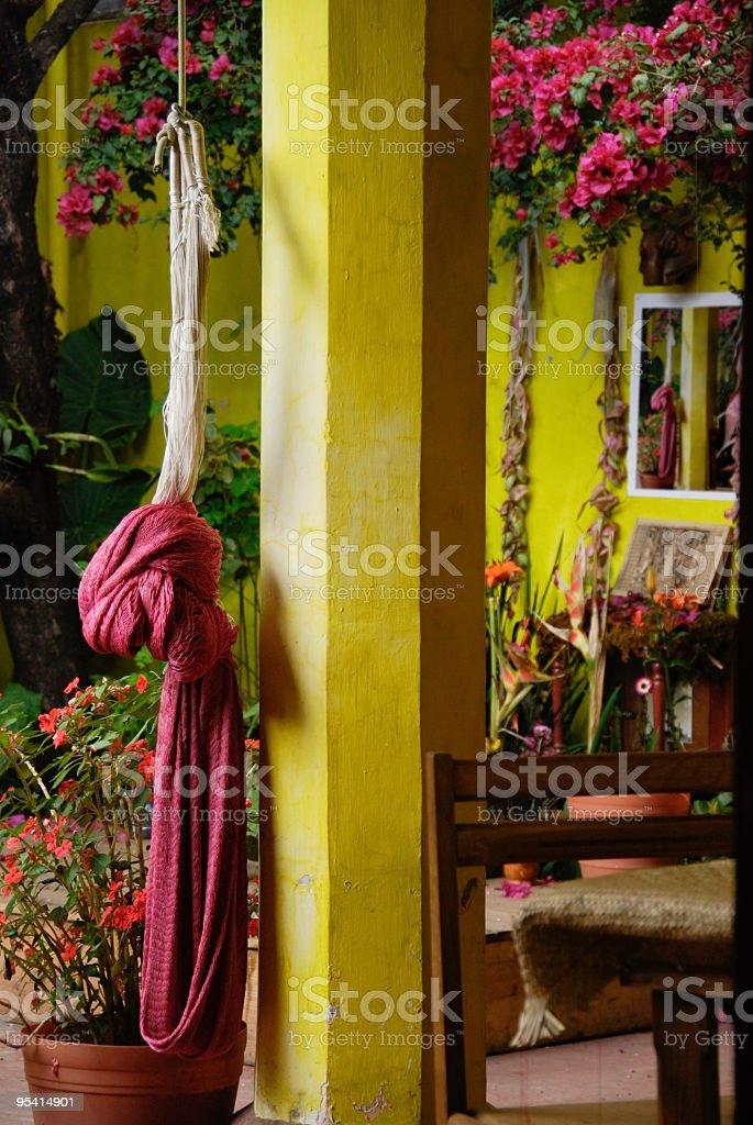 Purple hammock royalty-free stock photo