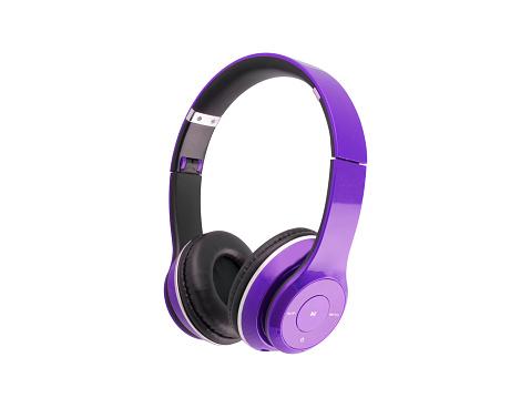 purple, headphones, isolated