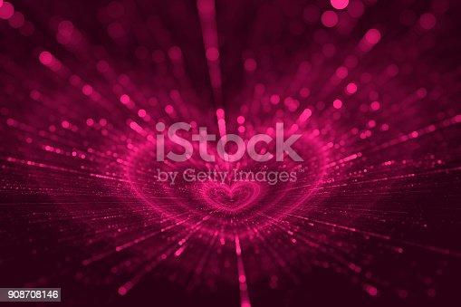 908708148 istock photo Purple Heart, Happy Valentine's Day Pattern, Amour 908708146