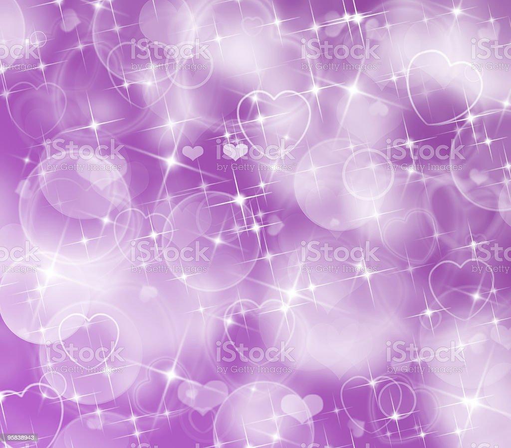 Purple Hearts royalty-free stock photo